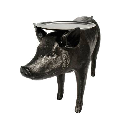 Столик Pig, Черный/ (Delight Collection, 6088T black) - Amppa.ru